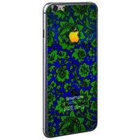Стекло защитное с узором для iPhone 6s/ 6 комплект на 2 стороны зеленая хохлома