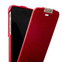 Чехол кожаный i-Carer для iPhone 6s / 6 красный - Metal Warrior Litchi Pattern Series