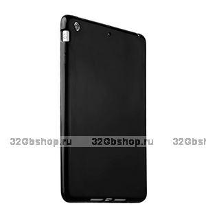 Черный силиконовый чехол накладка для iPad mini 3 / 2 глянцевый