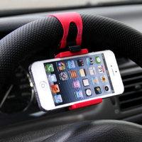 Автомобильный держатель для iPhone 5 с креплением на руль - черный