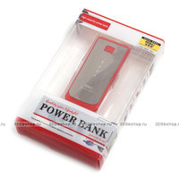 Внешний аккумулятор универсальный Power Bank 5200 mAh красный