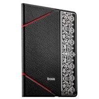 Черный кожаный чехол iBacks для iPad Air 2 с узором - VV Structure Leather Case Nameplating Edition Black