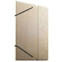 Белый кожаный чехол iBacks для iPad Air 2 с узором - VV Structure Leather Case Venezia White