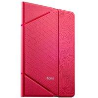 Розовый кожаный чехол iBacks для iPad Air 2 с узором - VV Structure Leather Case Venezia Pink