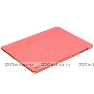 Розовый кожаный чехол Birscon для iPad 4 / 3 / 2 Fashion series Pink