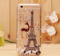 Пластиковый чехол накладка для iPhone 6s / 6 Эйфелева башня