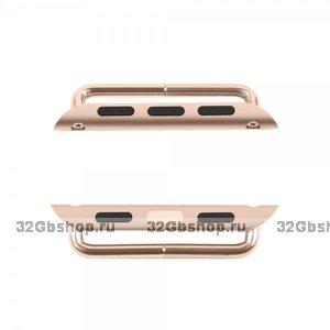 Адаптер крепления ремешка для Apple Watch 42mm красное золото - Rose gold Watchband Connection Adaper