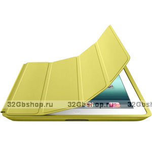 Чехол книжка Smart Case Yellow для iPad 4 / 3 / 2 желтый