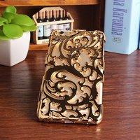 Накладка с узором Chrome Flower gold для iPhone 6s Plus / 6 Plus золотая