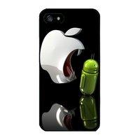 Пластиковый чехол накладка для iPhone 6s / 6 с рисунком Яблоко ест андроид