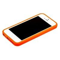 Оранжевый бампер для iPhone 5C с оранжевой полосой