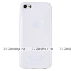 Cиликоновый чехол накладка S Style Case для iPhone 5c белый