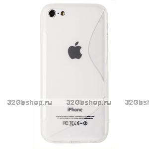 Cиликоновый чехол накладка S Style Clear Case для iPhone 5c прозрачный