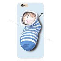 """Силиконовый чехол для iPhone 6s / 6 (4.7"""") Котенок спит в носке"""