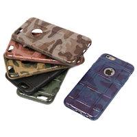 Защитный силиконовый чехол для iPhone 6s/ 6 зеленый камуфляж