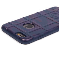 Защитный силиконовый чехол для iPhone 6s/ 6 синий камуфляж