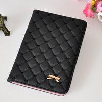 Черный стеганый кожаный чехол Premium для iPad Pro 12.9