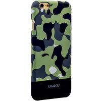 Пластиковый чехол для iPhone 6s / 6 зелено-серый камуфляж