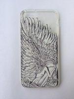 """Прозрачный силиконовый чехол с рисунком для iPhone 6s / 6 (4.7"""") Девушка с крыльями"""
