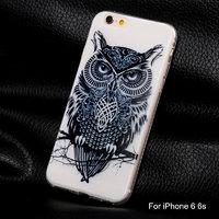 """Прозрачный силиконовый чехол накладка для iPhone 6s / 6 (4.7"""") Сова"""