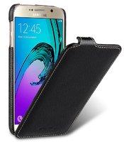 Черный кожаный чехол для Samsung Galaxy S7- Melkco Premium Leather Case Jacka Type (Black LC)