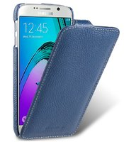 Синий кожаный чехол для Samsung Galaxy S7- Melkco Premium Leather Case Jacka Type (Blue LC)