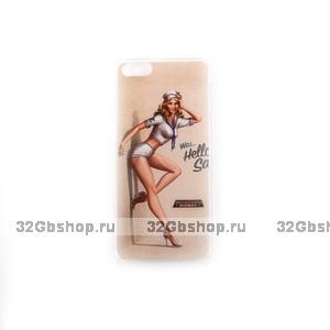 Чехол накладка для iPhone 5c с рисунком Морячка