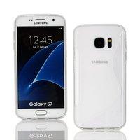 Прозрачный силиконовый чехол c волной для Samsung Galaxy S7 - S Line Wave Silicone Case Clear