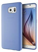 Прозрачный синий силиконовый чехол для Samsung Galaxy S7
