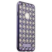 Cиликоновый чехол со стразами для iPhone 6s/ 6 (4.7) черный