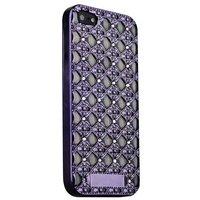 Черный силиконовый объемный чехол для iPhone 5s / SE/ 5 со стразами