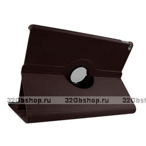 Коричневый чехол книжка подставка для iPad Pro 12.9 - Mobi Cover 360 Rotate Case Brown