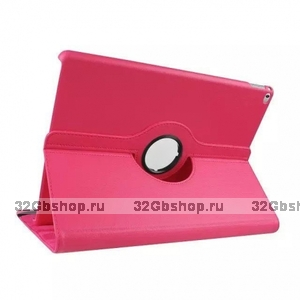 Розовый чехол книжка подставка для iPad Pro 12.9 - Mobi Cover 360 Rotate Case Pink