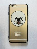 """Прозрачный силиконовый чехол для iPhone 6s / 6 (4.7"""") с рисунком Бишон фризе"""