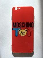 """Красный силиконовый чехол для iPhone 6s / 6 (4.7"""") с рисунком Мишка"""