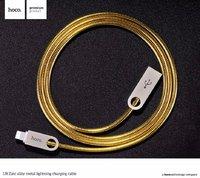 Кабель Lighting HOCO - USB для iPhone 5 / 5s / 5c / SE, iPhone 6s / 6, iPhone 7 / 7 Plus, iPad mini / iPad air, Metal Charging Cable (1 м) Золото