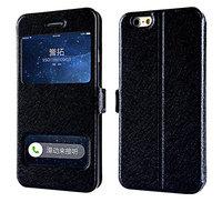 """Чехол книжка - подставка с окошком для iPhone 6 / 6s (4.7"""") черная"""
