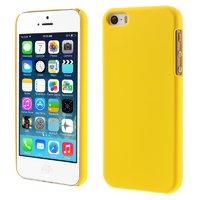 Желтый матовый пластиковый чехол для iPhone SE