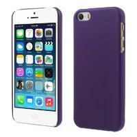 Фиолетовый матовый пластиковый чехол для iPhone SE