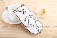 Белый силиконовый чехол для iPhone 5 / 5s / SE  Кот