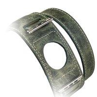 Ремешок кожаный i Carer Classic Genuine Leather Quadri-Watchband Series для Apple Watch 42мм - Зеленый
