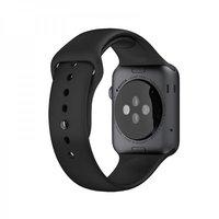 Черный силиконовый спортивный ремешок COTEetCI W3 Sport Band для Apple Watch 42мм