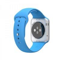 Голубой силиконовый спортивный ремешок COTEetCI W3 Sport Band для Apple Watch 42мм