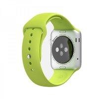 Зеленый силиконовый спортивный ремешок COTEetCI W3 Sport Band для Apple Watch 42мм
