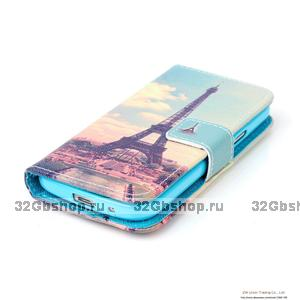 Чехол книга NOSSON для Samsung Galaxy S4 Mini с отсеком для хранения карт, рисунок Париж