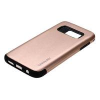 Защитный силиконовый чехол для Samsung Galaxy S7 с золотой пластиковой накладкой