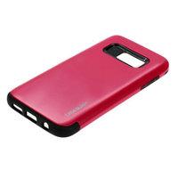 Защитный силиконовый чехол для Samsung Galaxy S7 с розовой пластиковой накладкой