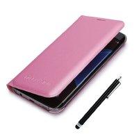 Розовый чехол книжка Wallet Card Flip Cover для Samsung Galaxy S7 Edge