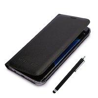 Черный чехол книжка Wallet Card Flip Cover для Samsung Galaxy S7 Edge