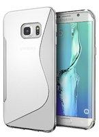 Прозрачный силиконовый чехол c волной для Samsung Galaxy S7 Edge - S Line Wave Silicone Case Clear